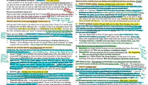 How I Format My Sermon Outline - Josh Weidmann