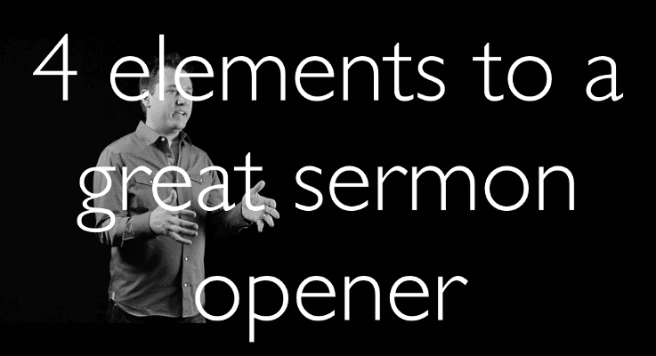 4 elements of a great sermon
