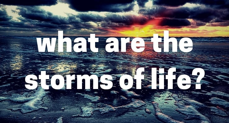 Surviving the 4 main storms of life.