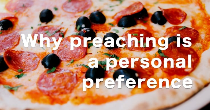 preaching pizza